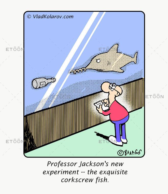 Professor Jacksons new experiment...: eToon cartoon for newsletters, presentations, websites, books and more