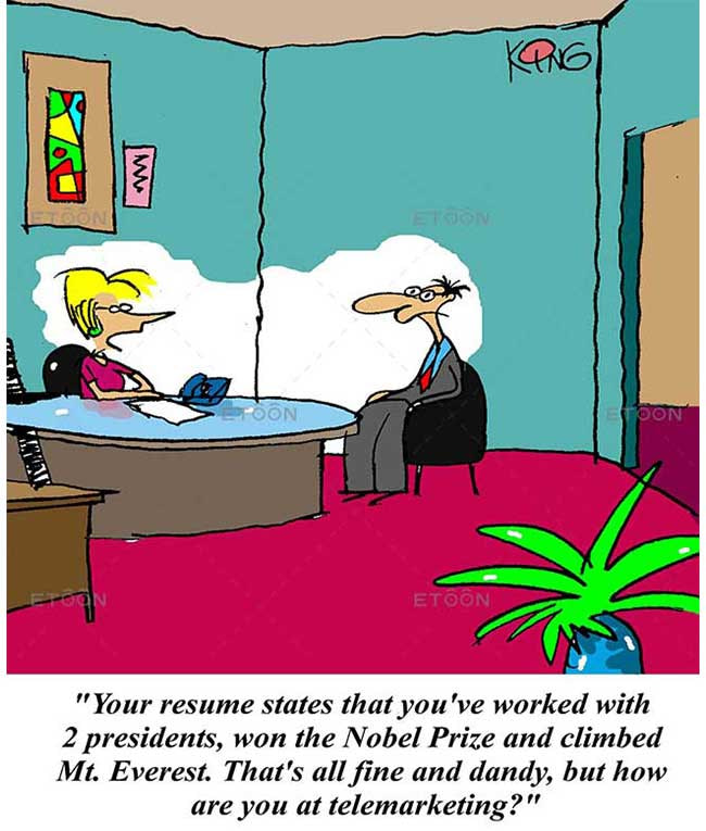 Your resume states that youve worked with 2 presidents: eToon cartoon for newsletters, presentations, websites, books and more