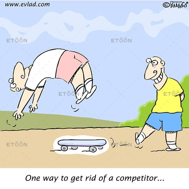 Sk8ter boys: One way to get rid of a competitor...: eToon cartoon for newsletters, presentations, websites, books and more