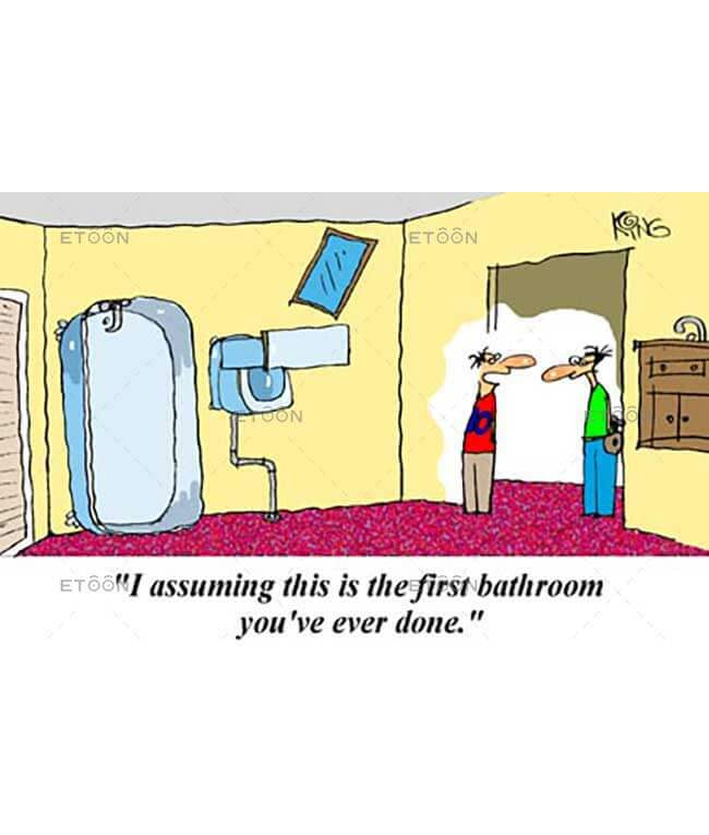 Im assuming this is the first bath...: eToon cartoon for newsletters, presentations, websites, books and more