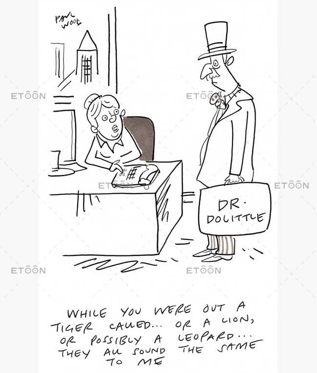 Animals business cartoon: eToon cartoon for newsletters, presentations, websites, books and more