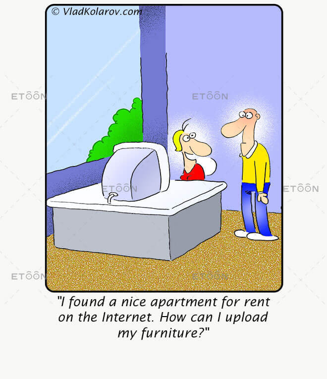 I found a nice apartment for rent...: eToon cartoon for newsletters, presentations, websites, books and more