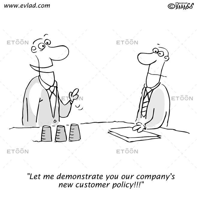 Let me demonstrate you our...: eToon cartoon for newsletters, presentations, websites, books and more