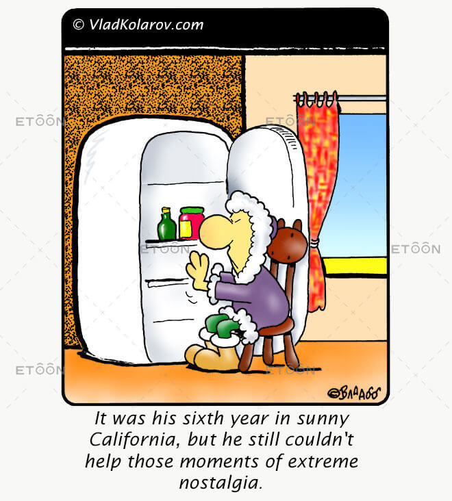 It was his sixth year in sunny California...: eToon cartoon for newsletters, presentations, websites, books and more
