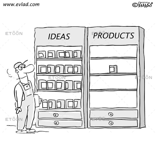 Man in front of a display case...: eToon cartoon for newsletters, presentations, websites, books and more