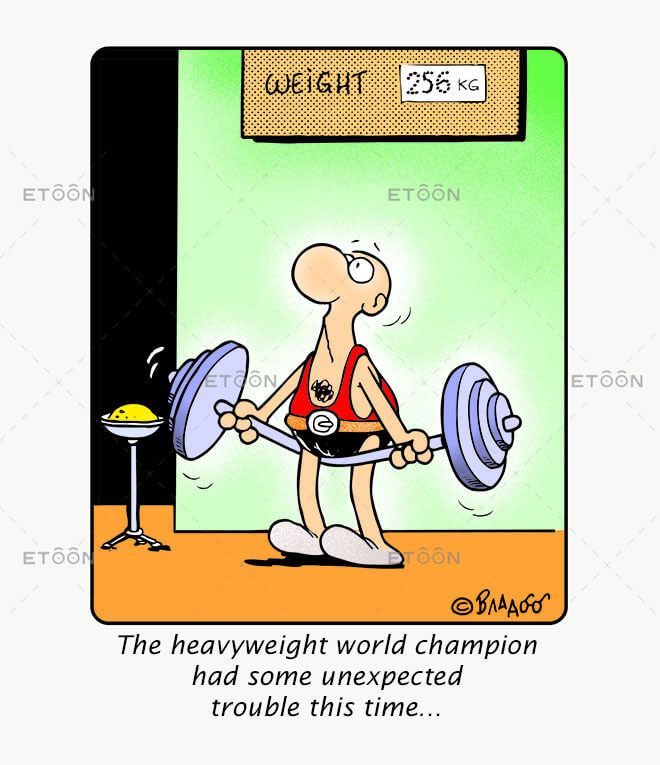 The heavyweight world champion had some...: eToon cartoon for newsletters, presentations, websites, books and more