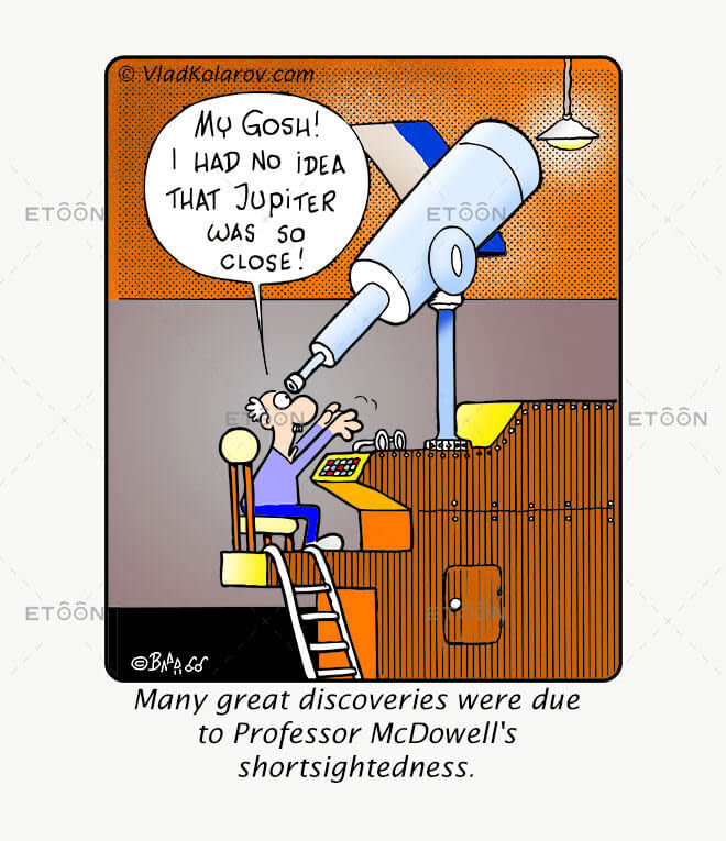 Many great discoveries were due...: eToon cartoon for newsletters, presentations, websites, books and more