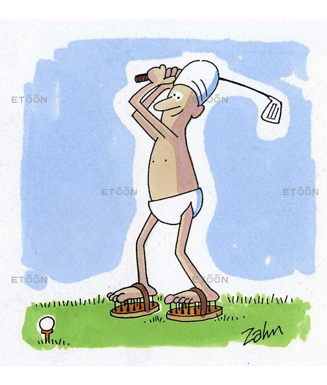 Indian golf: eToon cartoon for newsletters, presentations, websites, books and more
