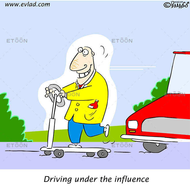 Driving under the influence: eToon cartoon for newsletters, presentations, websites, books and more