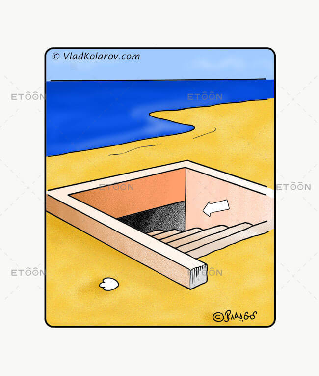 At the beach...: eToon cartoon for newsletters, presentations, websites, books and more