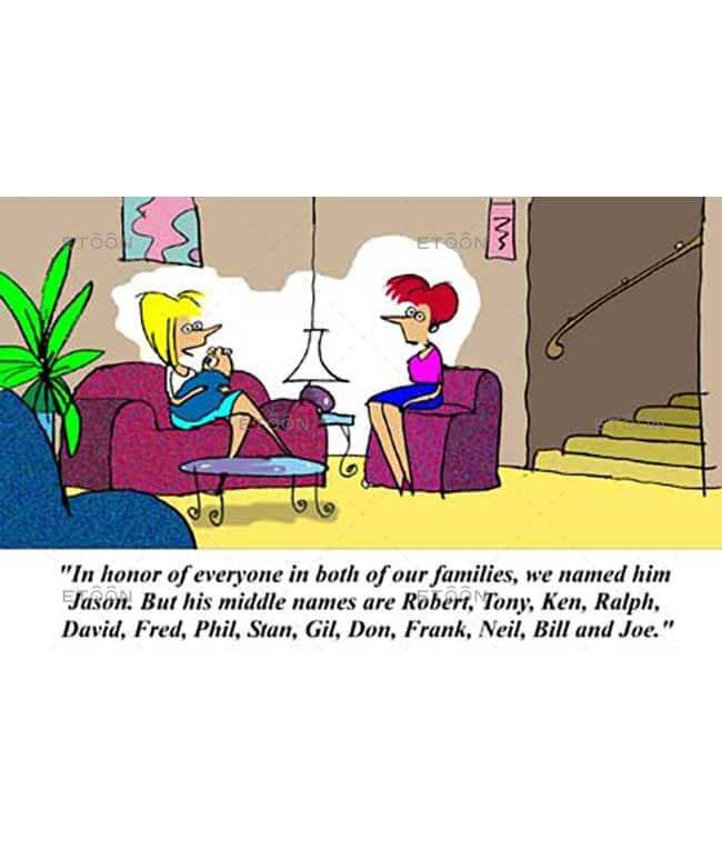 In honor of everyone in both of our families...: eToon cartoon for newsletters, presentations, websites, books and more