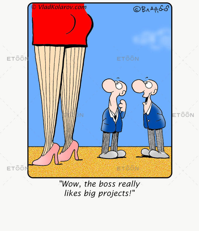 Wow! The boss really likes big projects!: eToon cartoon for newsletters, presentations, websites, books and more