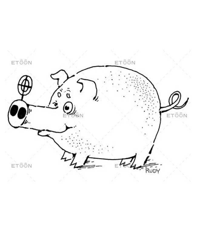 A pig sniper: eToon cartoon for newsletters, presentations, websites, books and more