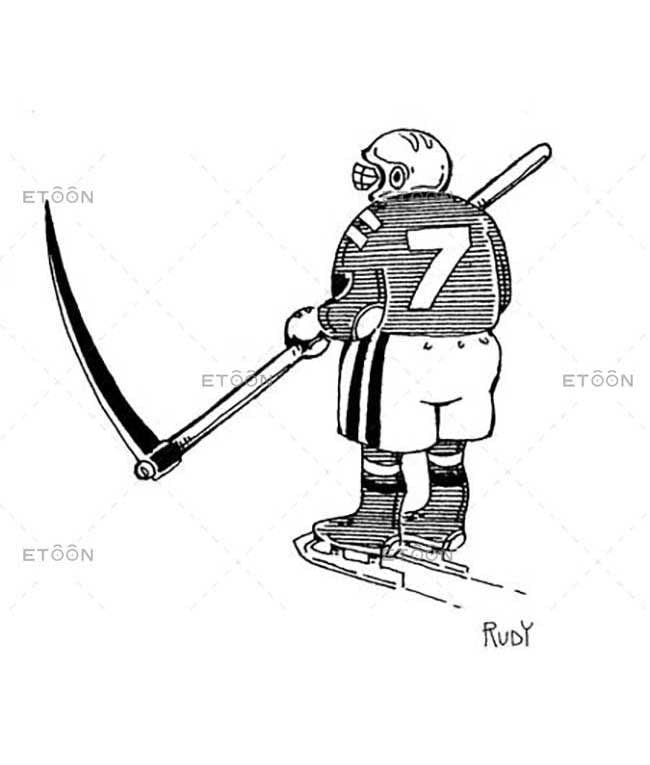 Hockey player: eToon cartoon for newsletters, presentations, websites, books and more