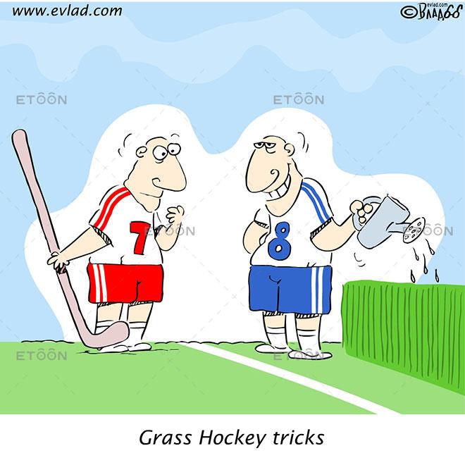 Grass Hockey tricks: eToon cartoon for newsletters, presentations, websites, books and more