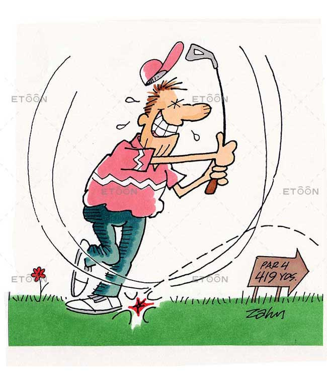 Golf enthusiast: eToon cartoon for newsletters, presentations, websites, books and more