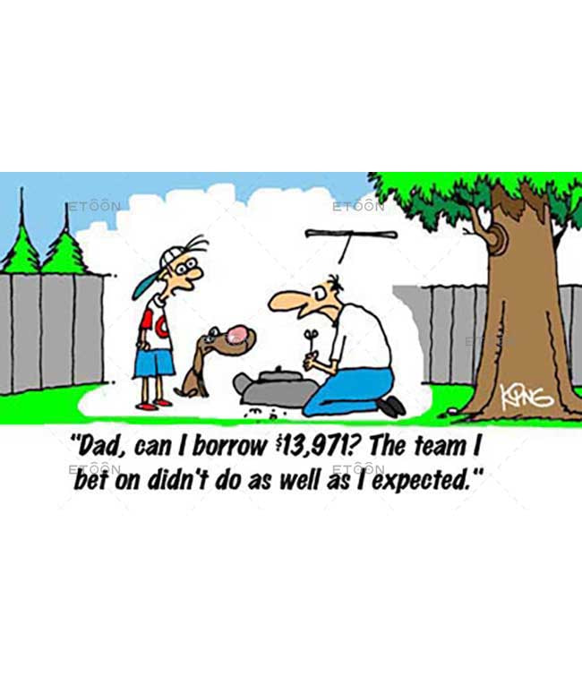 Dad, can I borrow $13,971?...: eToon cartoon for newsletters, presentations, websites, books and more