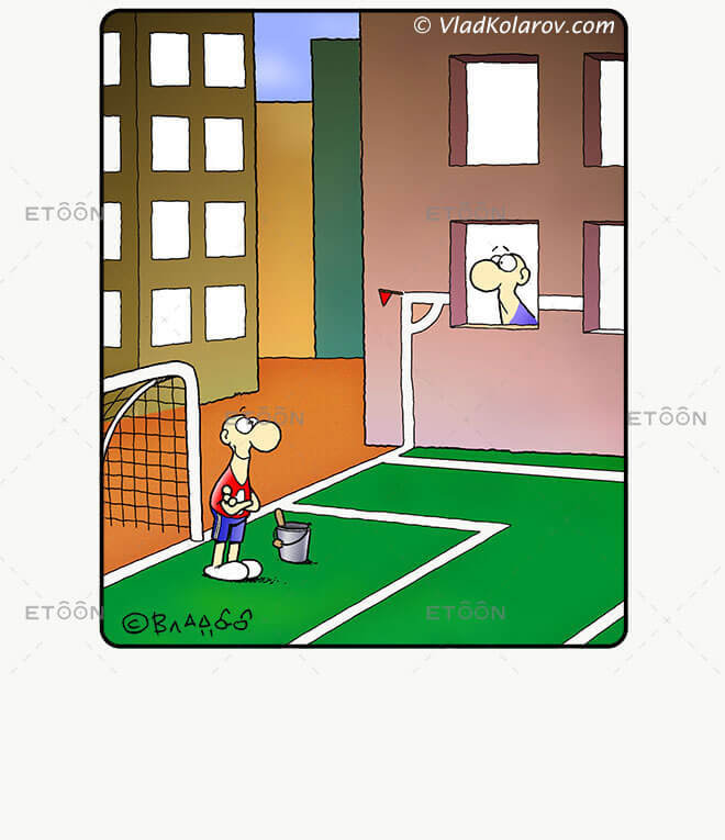 Soccer10: eToon cartoon for newsletters, presentations, websites, books and more