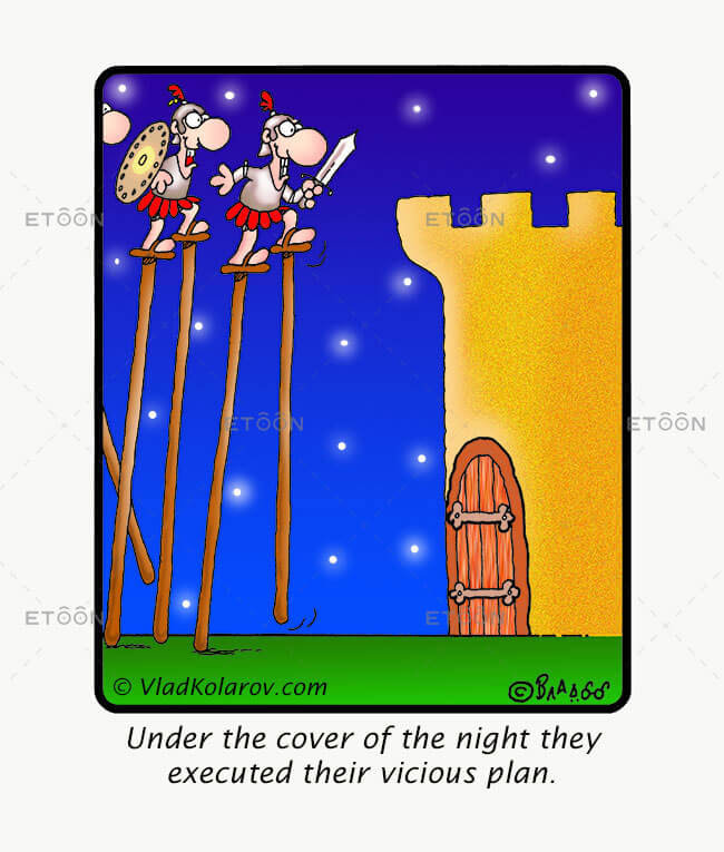 Under the cover of the night...: eToon cartoon for newsletters, presentations, websites, books and more