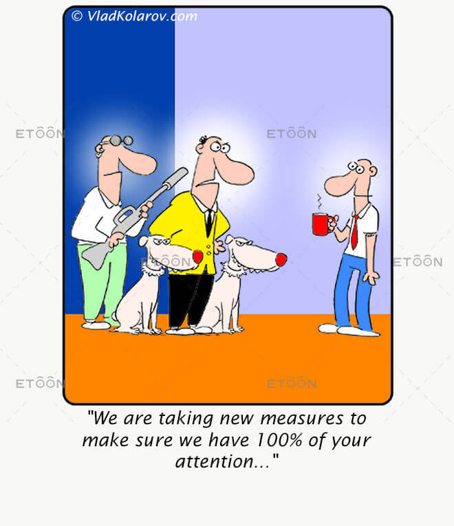 We are taking new measures to make sure...: eToon cartoon for newsletters, presentations, websites, books and more