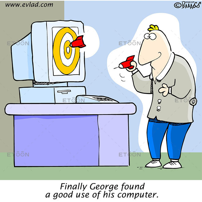 Finally George found a good use of his computer.: eToon cartoon for newsletters, presentations, websites, books and more