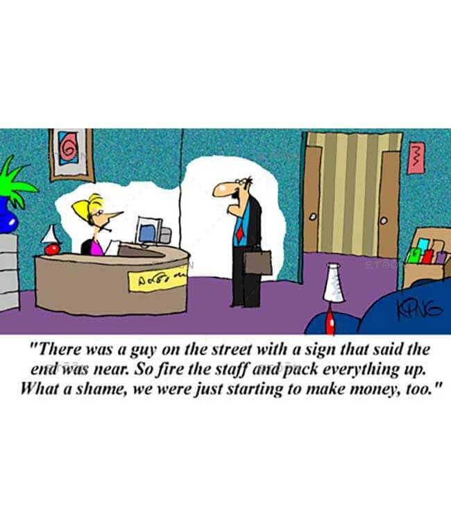 There was a guy on the street with a sign...: eToon cartoon for newsletters, presentations, websites, books and more