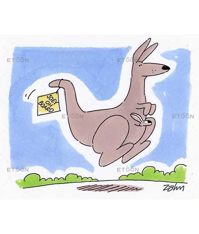 Jumping kangaroo: eToon cartoon for newsletters, presentations, websites, books and more
