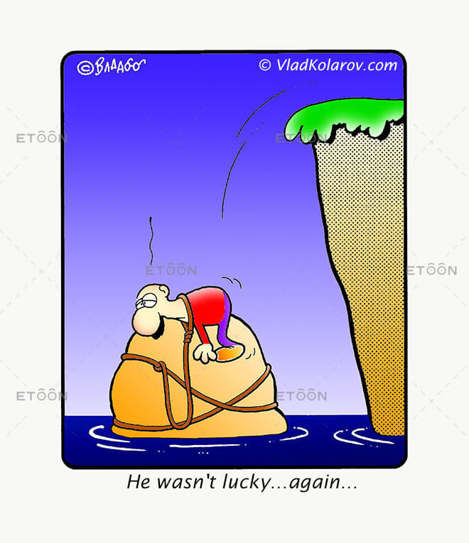 He wasnt lucky...again...: eToon cartoon for newsletters, presentations, websites, books and more