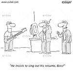 Early American electric guitar.: eToon cartoon for newsletters, presentations, websites, books and more