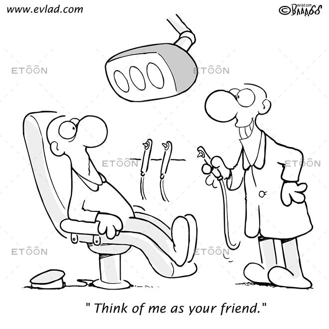 Think of me as your friend.: eToon cartoon for newsletters, presentations, websites, books and more