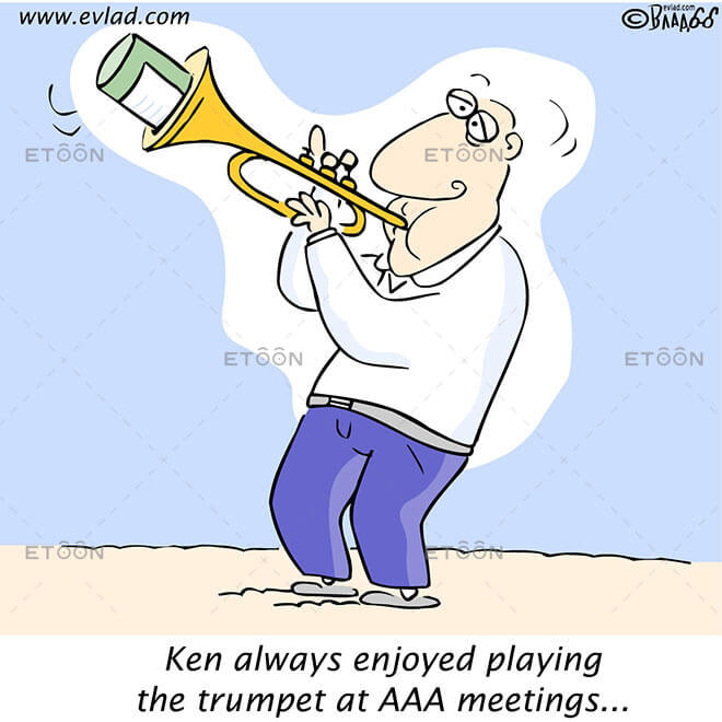 Ken always enjoyed playing the trumpet...: eToon cartoon for newsletters, presentations, websites, books and more