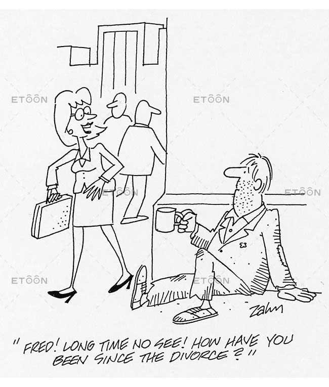 Fred! Long time no see! How have you been since the divorce?: eToon cartoon for newsletters, presentations, websites, books and more