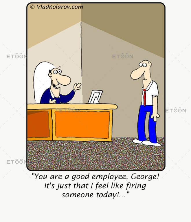 You are a good employee: eToon cartoon for newsletters, presentations, websites, books and more