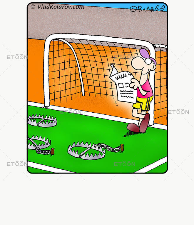 Soccer1: eToon cartoon for newsletters, presentations, websites, books and more