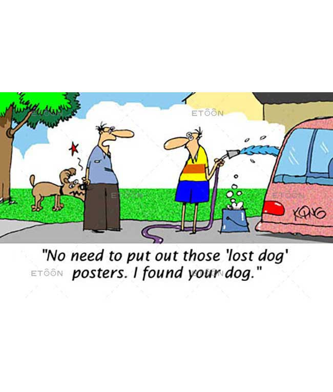 No need to put out those lost dog posters...: eToon cartoon for newsletters, presentations, websites, books and more