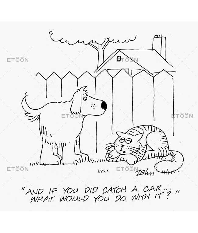 And if you did catch a car...What would you do with it?: eToon cartoon for newsletters, presentations, websites, books and more
