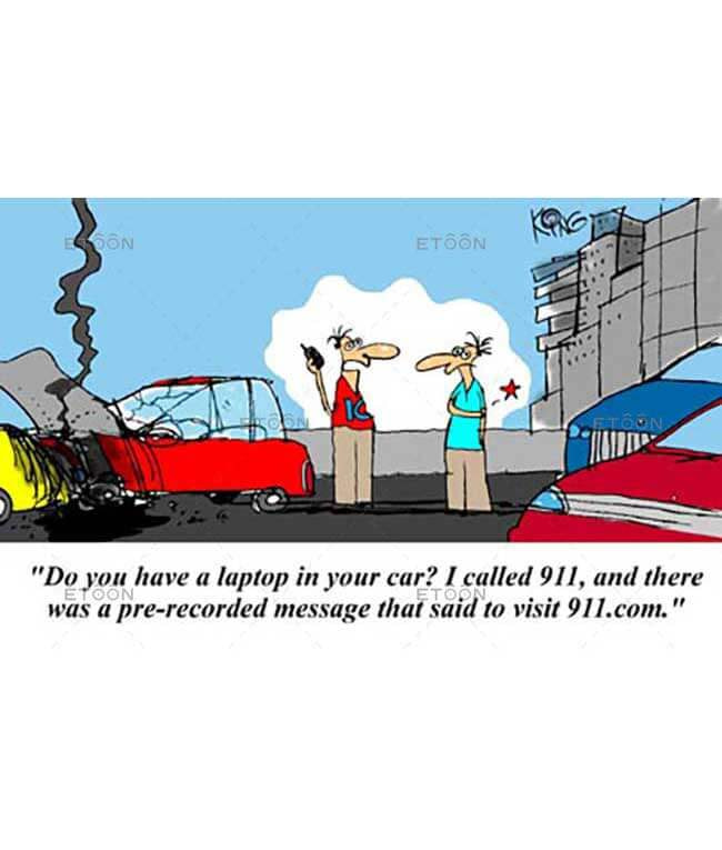 Do you have a laptop in your car...: eToon cartoon for newsletters, presentations, websites, books and more