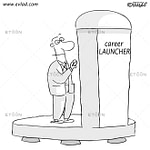 Man playing Hide and seek...: eToon cartoon for newsletters, presentations, websites, books and more