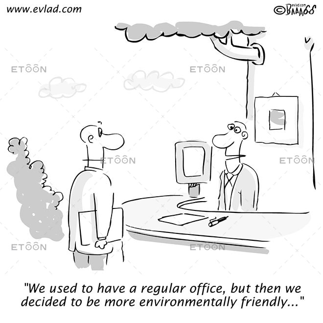 We used to have a regular office...: eToon cartoon for newsletters, presentations, websites, books and more