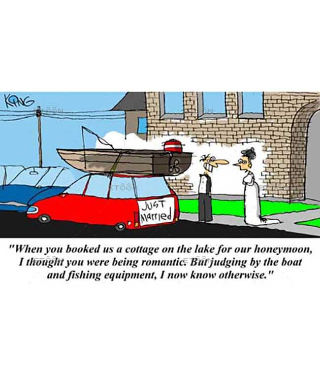 When you booked us a cottage on the lake...: eToon cartoon for newsletters, presentations, websites, books and more